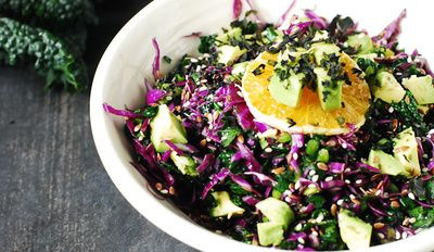 This seaweed-packed super-salad is chock-full of vitamins and deliciousness. Satisfying and flavorful too!