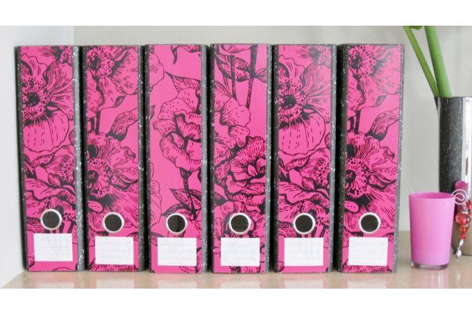Lever Arch labels: Fuschia Florals by Design-A-File on hellopretty.co.za