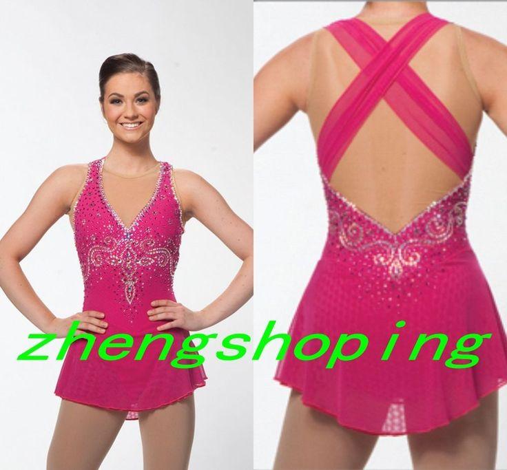 girls ice skating dress custom figure skating dresses competition women dress #Unbranded