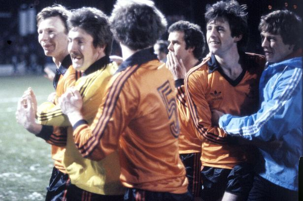 Dundee United keeper Hamish McAlpine celebrates winning the 1980-81 League Cup