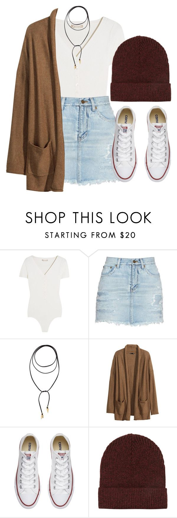 """""""Fall"""" by feathersandroses ❤ liked on Polyvore featuring Michael Kors, Yves Saint Laurent, Vanessa Mooney, H&M, Converse and Topshop"""