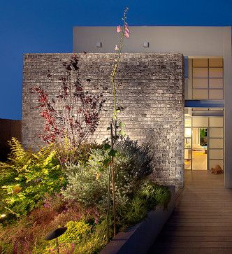 Modern Brick And Stucco Design Ideas, Pictures, Remodel, and Decor - page 2