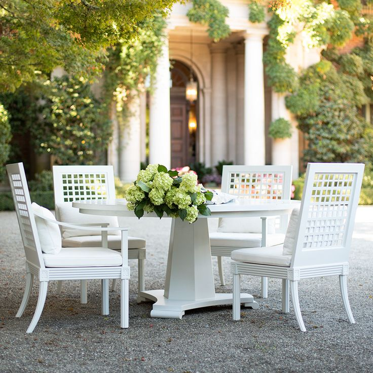 Our Quadratl Armchairs and Capella Dining Table from The Masters Aluminum  Series create a perfect outdoor breakfast soiree. 39 best images about Garden Furniture on Pinterest   Gardens