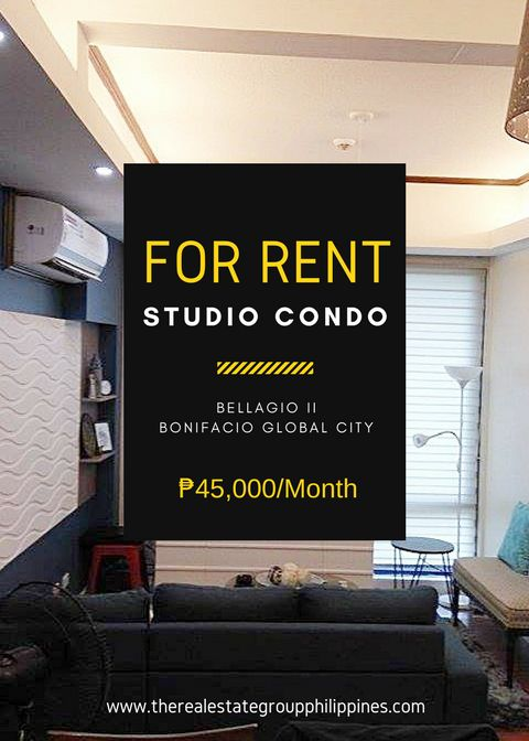 For Rent  Studio Condominium - Bellagio Two 43sqm 45000/Month  http://ift.tt/2t4s5Kl