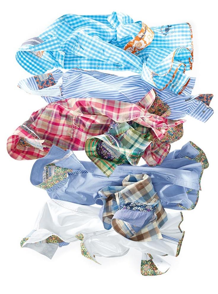 Sommerliche Hemden von A FISH NAMED FRED in vielen bunten Farben. Die lässigen Freizeithemden überzeugen mit ihren vielen auffälligen Details, wie zum Beispiel den farblich abgesetzten Manschnetten.