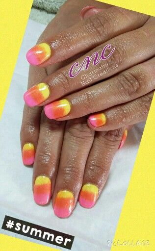 #summer #nails #additives #shellac www.charmainesnailcreations