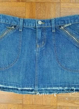 Buy my item on #vinted http://www.vinted.com/womens-clothing/jean-skirts/20682692-juicy-couture-jeans-distressed-mini-denim-skirt