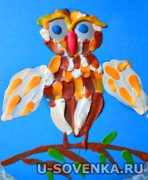 уроки рисования для детей, рисование пластилином