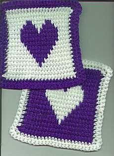 X-Stitched Crocheted Squares ~ free pattern/graph ♥❥Teresa Restegui http://www.pinterest.com/teretegui/❥♥