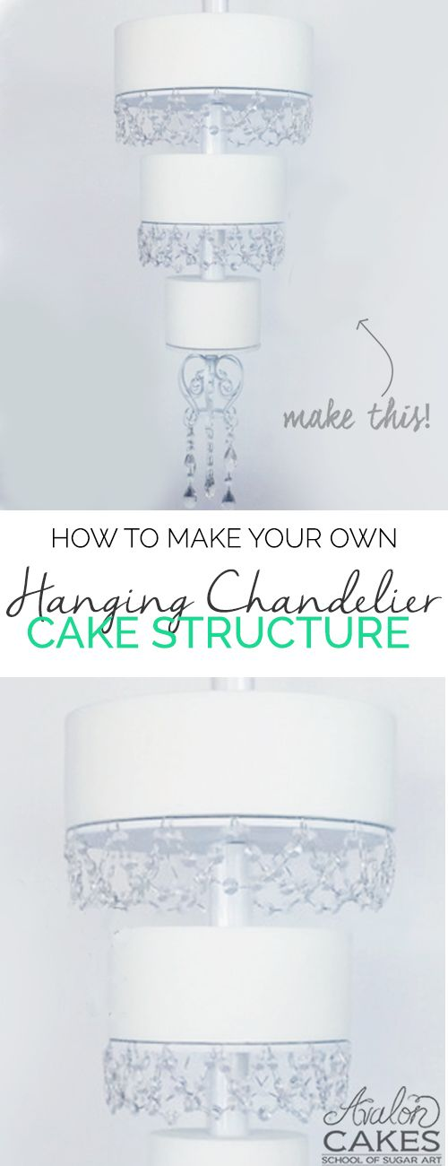 Hanging Chandelier Cake Structure Tutorial - hanging cake... and it's super easy! www.avaloncakesschool.com