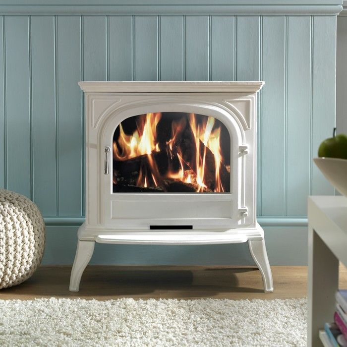 Ekofires 1050 Electric Stove In White With Plain Door - Electric Stoves - All Stoves - Stoves Are Us