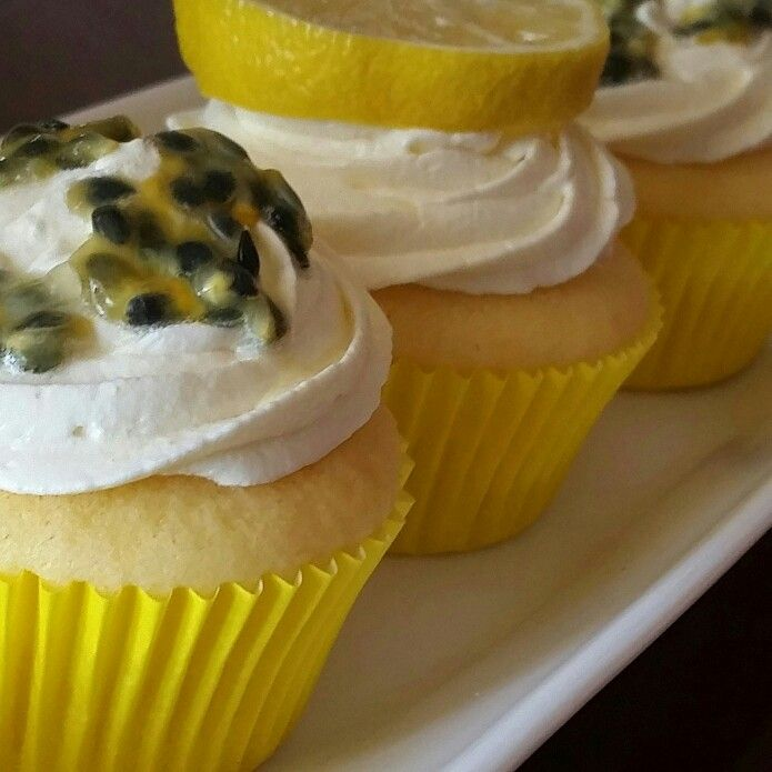 Lemon and Passionfruit cupcakes