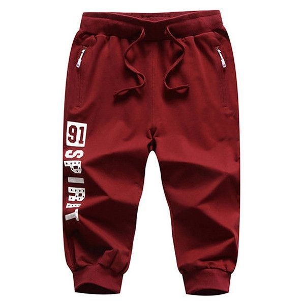 s Drawstring Knee Length Casual Cotton Shorts Jogging Sport Shorts (€21) ❤ liked on Polyvore featuring men's fashion, men's clothing, men's shorts, newchic, shorts, men athleisure bottoms, red wine, mens red shorts, mens summer shorts and men's apparel