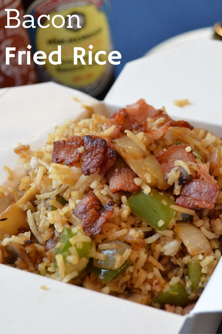 Try fried rice tonight with a bacon-y twist the whole family is guaranteed to love! -