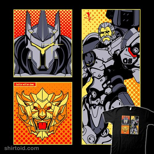 Hammer Comics | Shirtoid #comic #comics #donnie #gaming #overwatch #reinhardt #videogame
