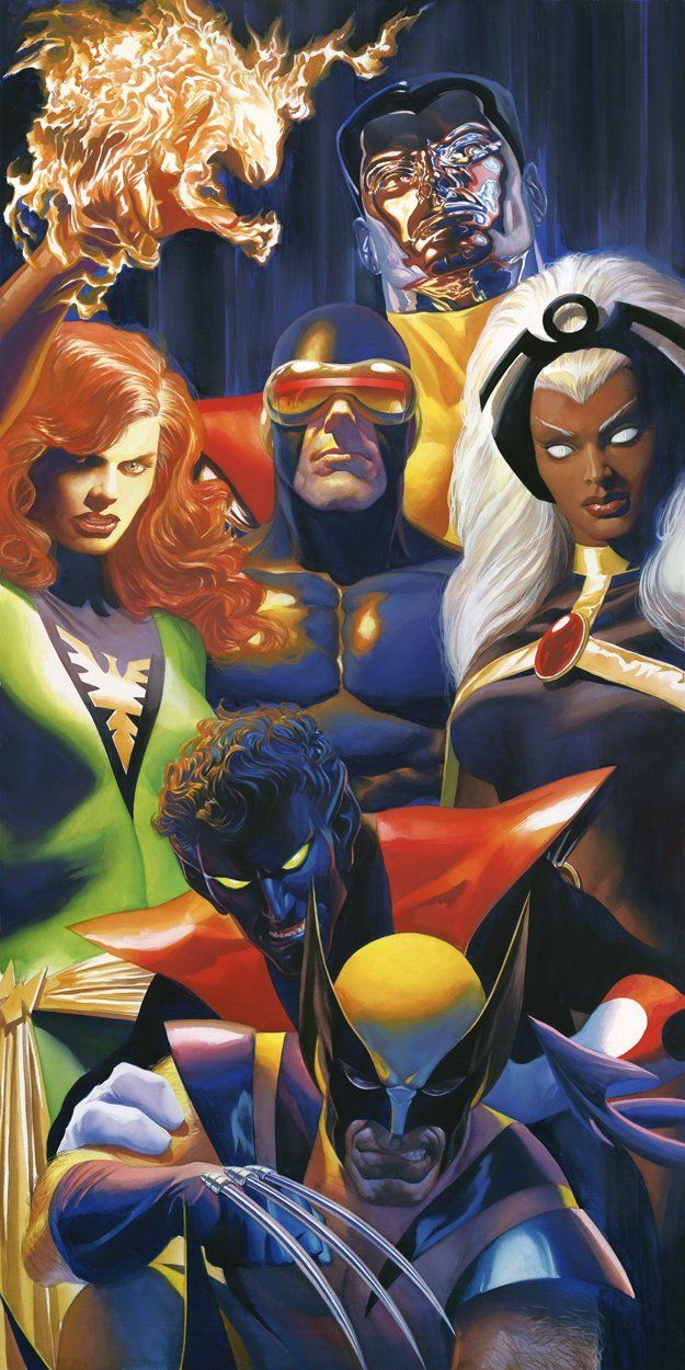Marvel X-traordinary Signed by Alex Ross Framed Fine Art Canvas