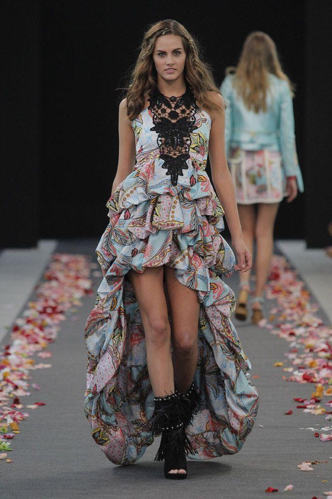 Vestido+largo+abullonado+Color+tipo