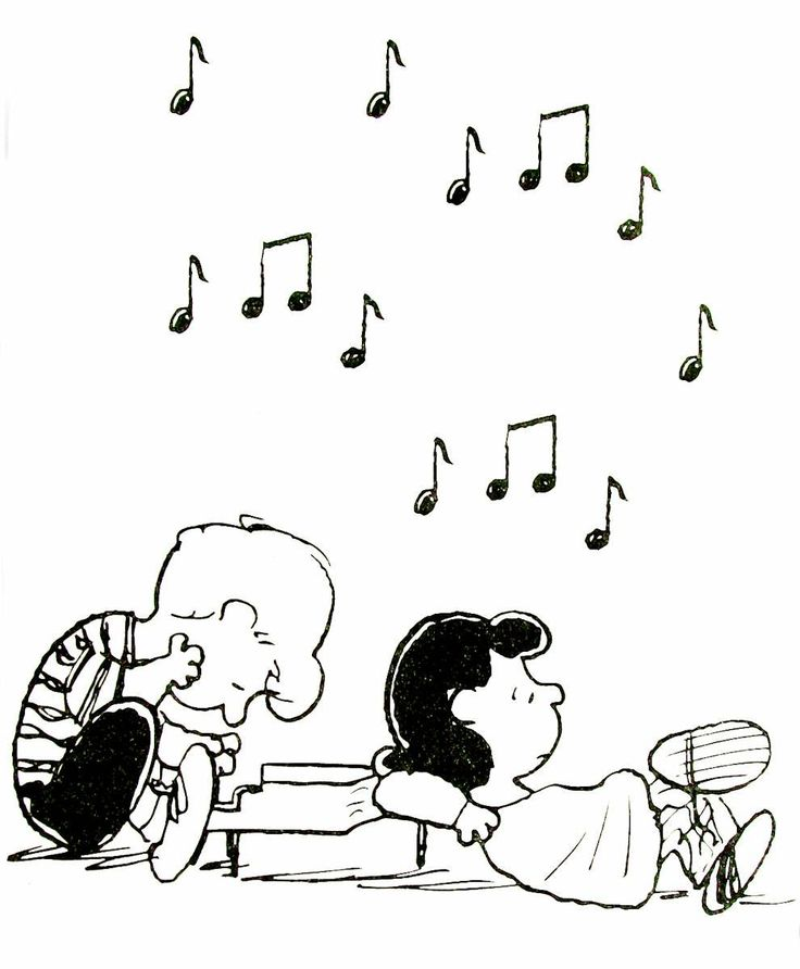 lucy and linus printable coloring book page for kids - Peanuts Coloring Book