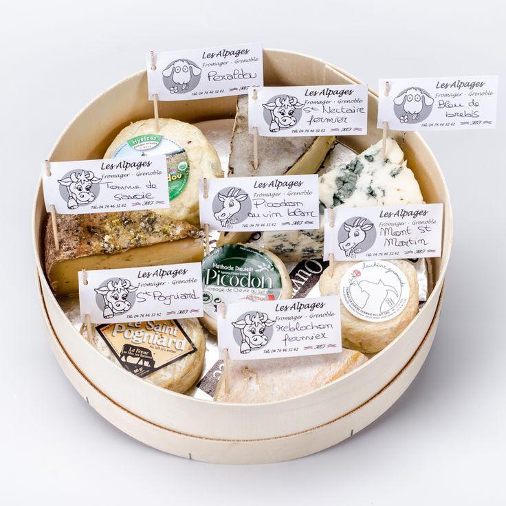 Plateau de fromage lait cru. Les Alpages. Grenoble