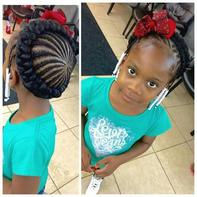 Braid hairstyles for kids with beads