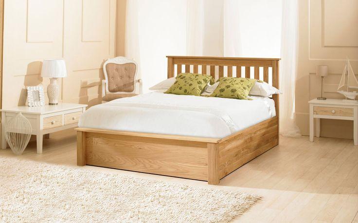 Monaco Oak Ottoman Bed - Double, King Size or Super King Size  (King Size)