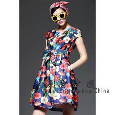 Image result for women batik patchwork dress