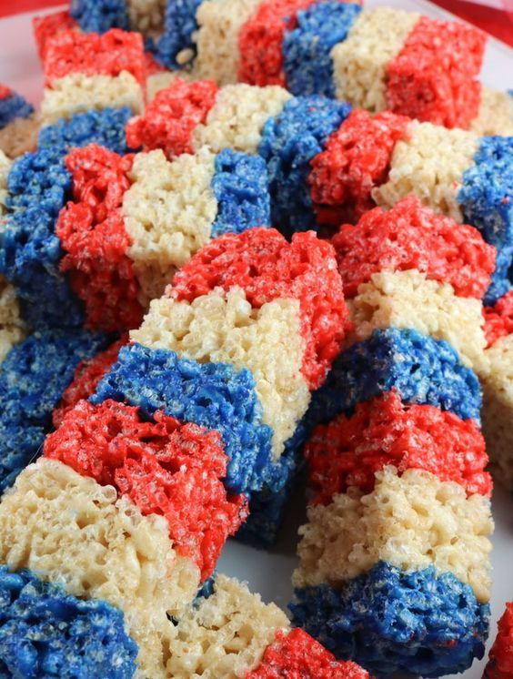 Our colorful and patriotic Firecracker Krispie Treats are adorable, delicious and make the perfect 4th of July dessert.