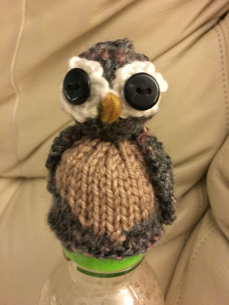 The 'big knit' innocent smoothie owl I hand knitted