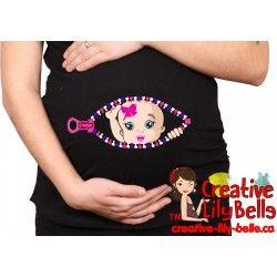 chandail de maternité fashion rose 189