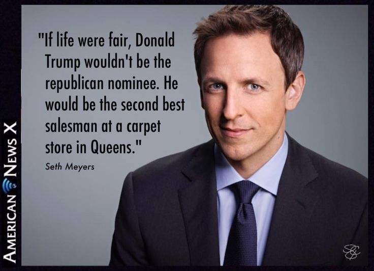 If life were fair, Trump wouldn't be the republican nominee. He would be the second best salesman at a carpet store in Queens.