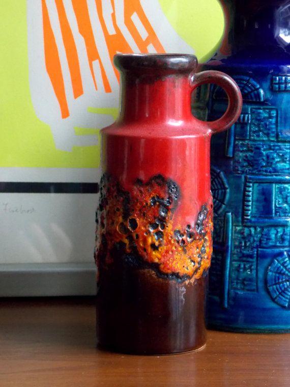 Scheurich Fat Lava Vase West German Pottery, MidCenturyFLA,