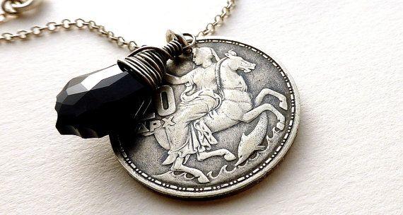 Greek necklace Mythology Moon Goddess Selene by CoinStories