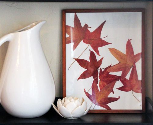 Pressed Leaf Artwork | 10 Ways To Bring The Great Outdoors In
