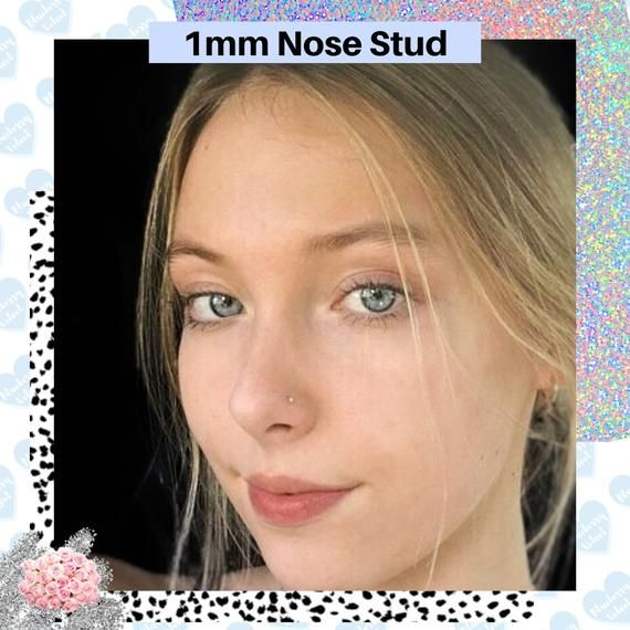 Nose Stud L Shape Flat Nose Stud Nose Stud 22g Tiny Sterling Silver Crown Nose Stud Delicate Nose Pin Nose Ring Nose Stud Silver