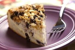 BLUEBERRY ALMOND COFFEE CAKE: Sweet and crunchy combine for a delicious tasting cake  #blueberry #almond #CoffeeCake