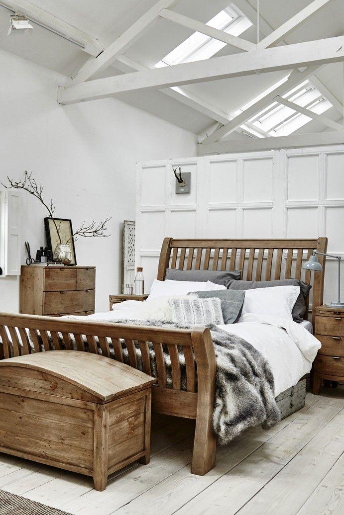 lit 2 personnes bois recycle 180 cm