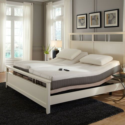 Sleep Science Natural Latex Split King Mattress With Adjule Base Medium Firm Includes 2 Twin Xl Mattresses Wooden Bed Frame