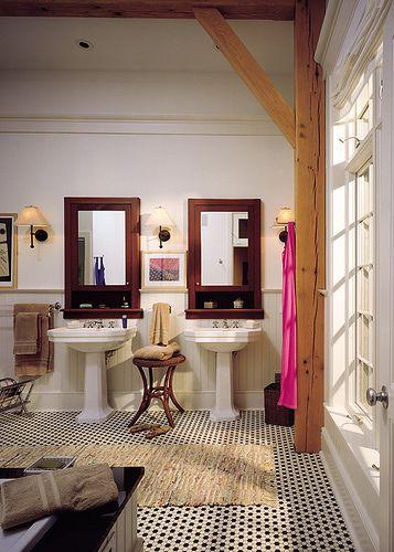 Queenslander Timber Frame Home - Master Bath By Riverbend Timber Framing