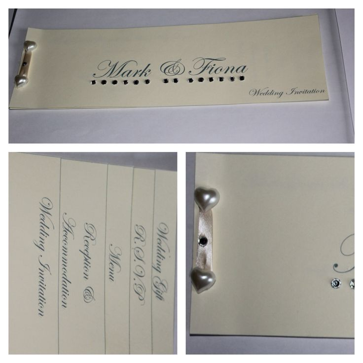 Wedding invite in cheque book design - made by me