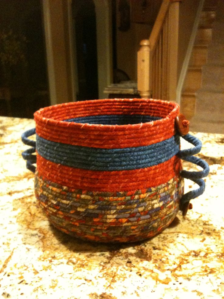 Coil Basket Weaving Patterns : Best images about coiled fabric bowls and baskets on