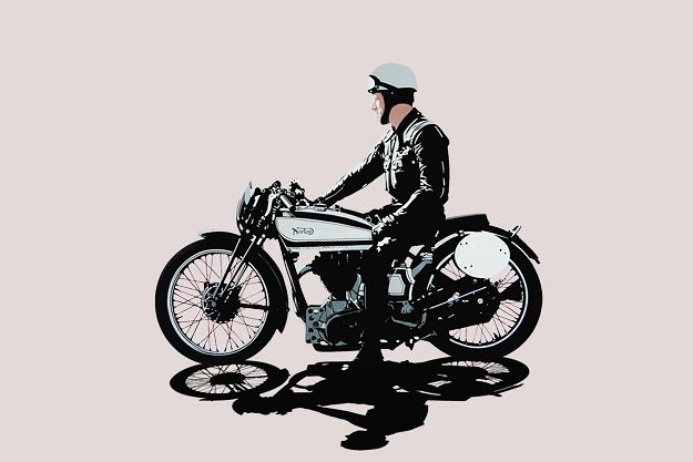 Conrad Leach is one of our leading contemporary motorcycle artists, with a wonderfully spare and elegant style.: Vintage Motorcycles, Official Site, Motorcycles Wallpapers, Motorcyclesportsbik Culture, Motorcycles Poster, Leach Official, Conrad Leach, Cafe Racers, Norton Jack