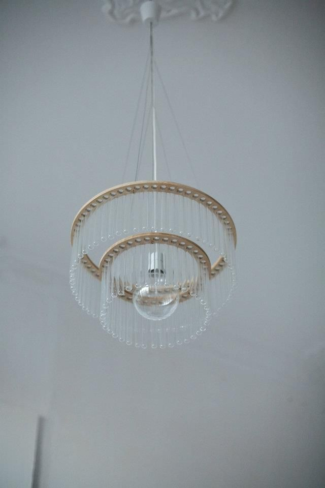 beautiful test tube chandelier from polish designer pani With test tube chandeliers by pani jurek
