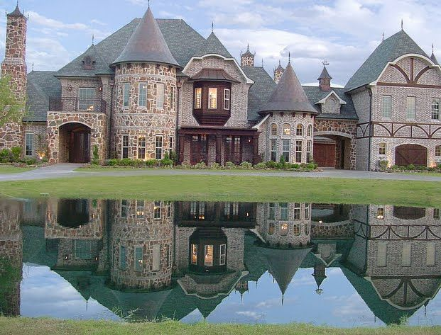 Estate Home Chatau Tudor Lake Pond Castle Stone