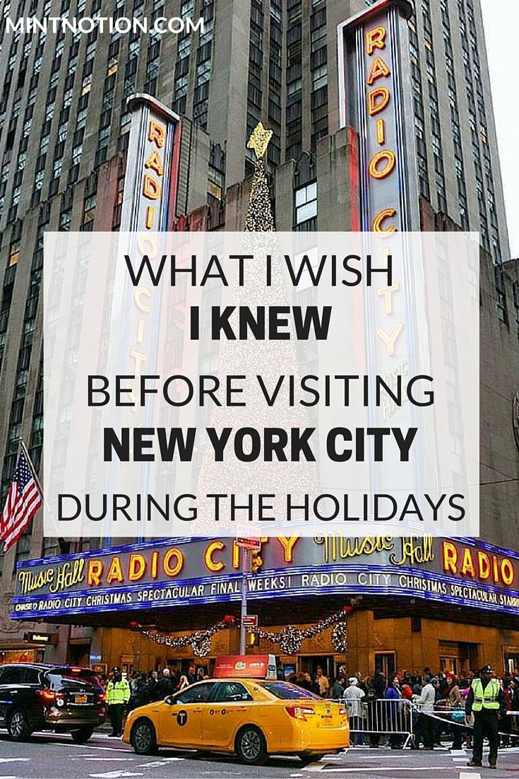 What I wish I knew before visiting NYC during the holidays. New York City is one of the most popular destinations to spend Christmas and New Year's Eve. These are some insanely useful tips for anyone thinking of spending the holidays in NYC and Times Square!