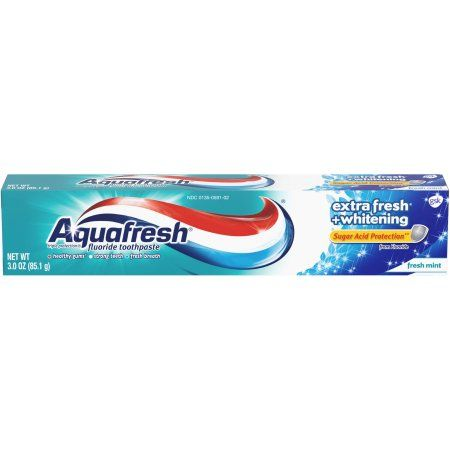 Aquafresh Extra Fresh Plus Whitening Toothpaste, 3 oz, Multicolor