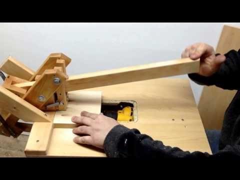 Homemade Kreg Foreman Style Pockethole Machine Drilling Hardwood 4