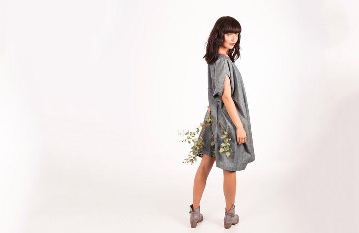 Square Dress : Chambray