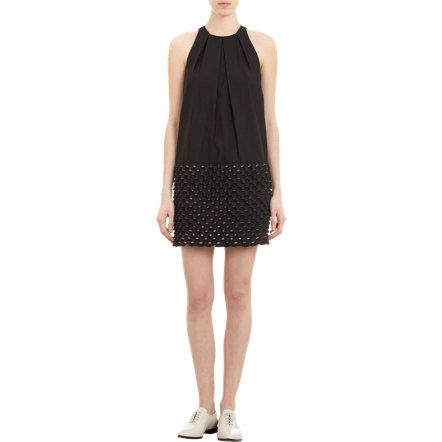 Kenzo Egg Crate-Skirt Sleeveless Shift