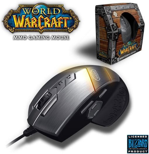 SteelSeries MMO Special-Edition World of Warcraft Mouse with 15 Programmable Buttons!