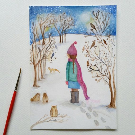 Check out this item in my Etsy shop https://www.etsy.com/listing/230163291/original-whimsical-watercolour